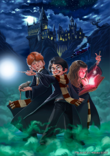Harrypotter-hogwarts-illustration-digital