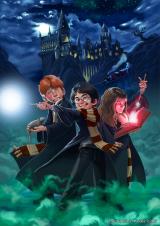 Harrypotter-hogwarts-illustration-digital